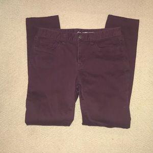 Gap maroon skinny jeans